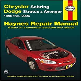 chrysler sebring dodge stratus avenger thru haynes chrysler sebring dodge stratus avenger 1995 thru 2006 haynes repair manual revised edition
