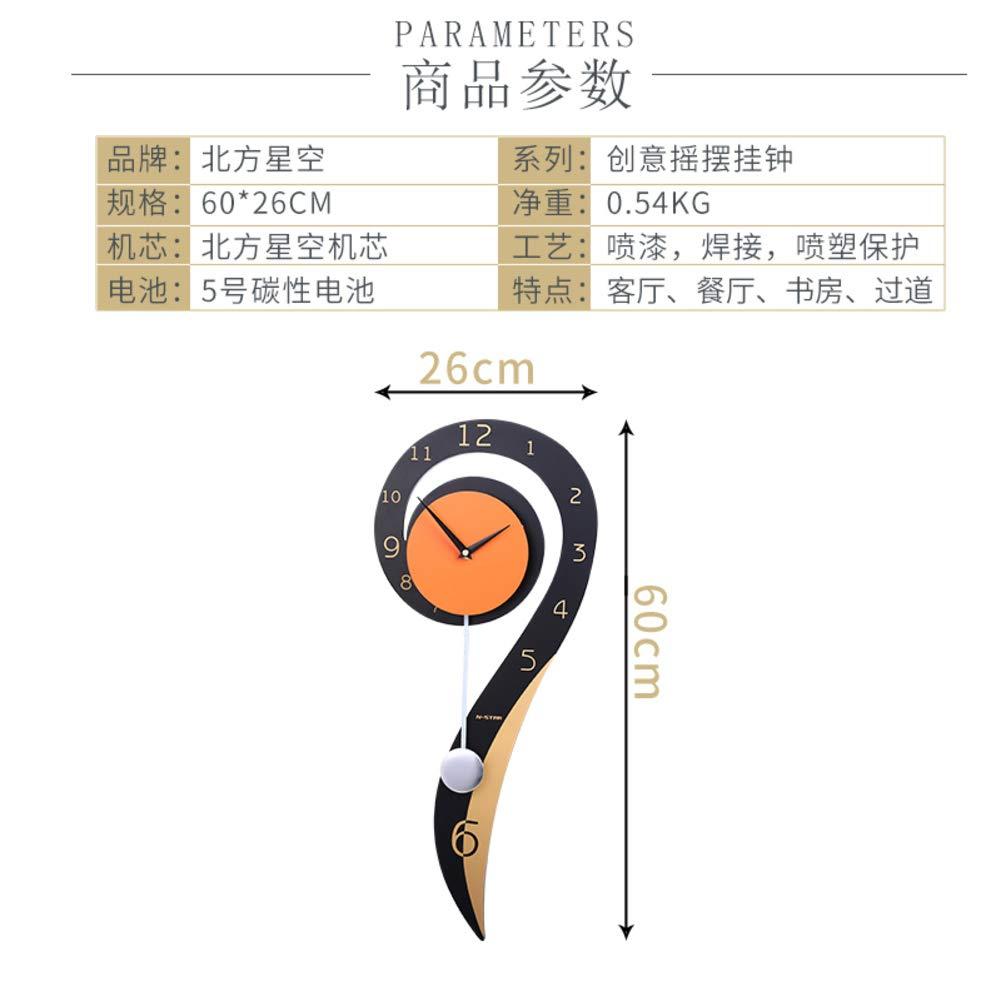 Amazon.com: YHviking Creative Wall Clocks with Pendulum,Silent Clocks Modern Decorative Quartz Wall Clock: Home & Kitchen