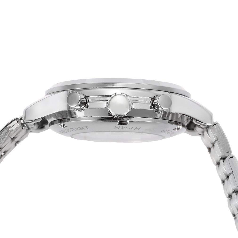 YANGSANJIN Automatisk mekanisk, stål automatisk mekanisk armbandsur kalender mode klänningsklocka en