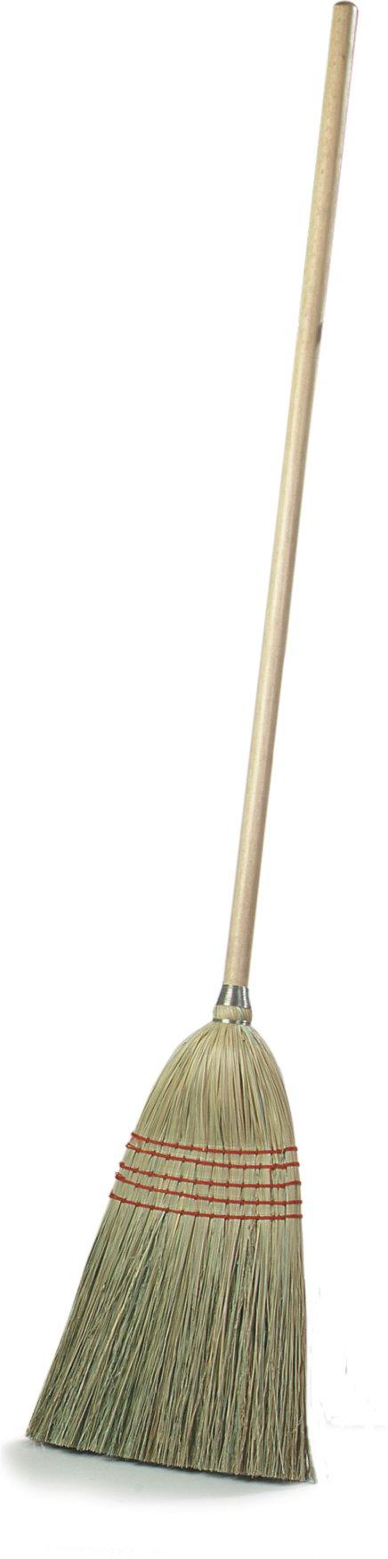 Carlisle 4135200 Flo-Pac Parlor Broom, 55'', Corn Blend