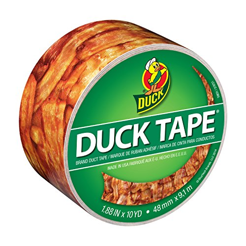 Duck Brand 283700 Printed Duct Tape, Crispy Bacon, 1.88 Inches x 10 Yards, Single Roll