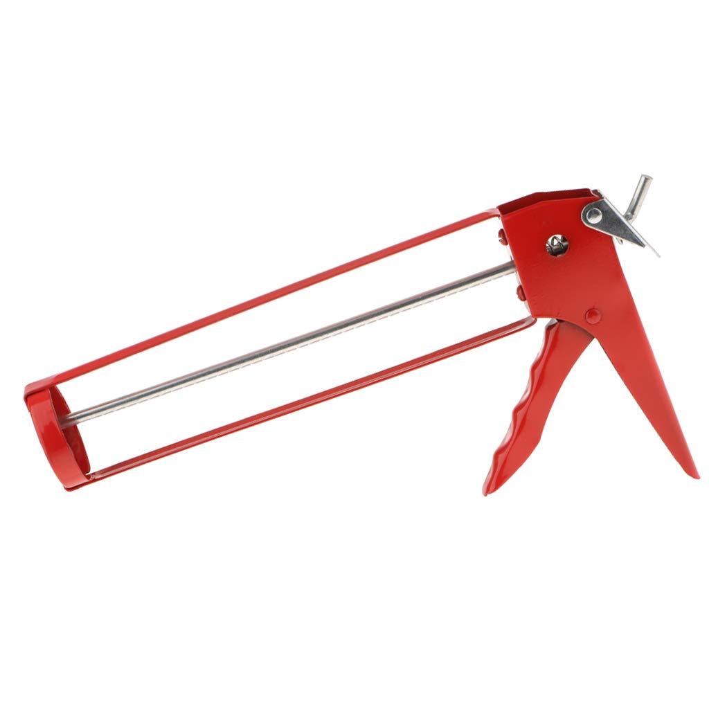 non-brand Metal Manual Glass Caulking Squeeze Caulk Gun Workforce Multifunction Red