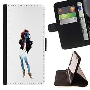 BullDog Case - FOR/Samsung Galaxy S5 V SM-G900 / - / TRENDY WOMAN GIRL FASHIONABLE SUNGLASSES /- Monedero de cuero de la PU Llevar cubierta de la caja con el ID Credit Card Slots Flip funda de cuer