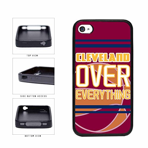 Cleveland Over Everything TPU RUBBER SILICONE Phone Case Back Cover Apple iPhone 4 4s includes BleuReign(TM) Cloth and Warranty Label