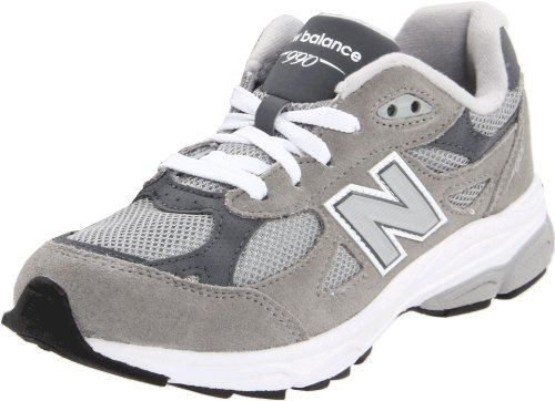 New Balance KJ990 Lace-Up Running Shoe (Little Kid/Big Kid), Grey, 5 M US Big Kid