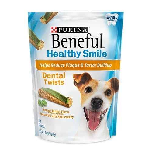 Beneful Healthy Smile Dental Dog Snacks - Twists - For Small / Medium Dogs - 10 Treats Per Package - Pack of 2