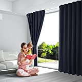 Blackout Curtains, Room Darkening Thermal Insulated Rod Pocket Blackout Window Drapes for Bedroom/living Room, (2Panels, 52 x 84 Inch, Navy Blue) Review