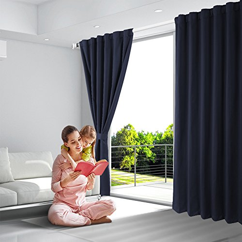 Blackout Curtains, Room Darkening Thermal Insulated Rod Pock