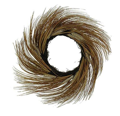 Transpac Beautiful 30 Inch Diameter Artificial Wheat Door Wreath (Large Wreaths Door Sale For)