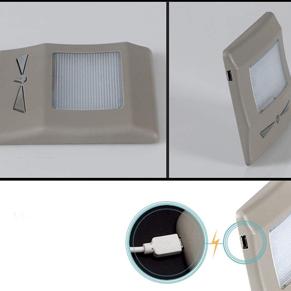 Topker L/ámpara de Lectura USB rechargerable Coche multifunci/ón LED Luz Interior Luz de succi/ón magn/ética luz de Emergencia port/átil