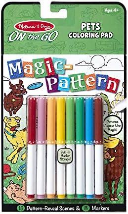 Melissa & Doug Patrón Mágico de Mascotas Bloc para Colorear con marcadores, para Actividades de Viaje de niños Activity Book 2