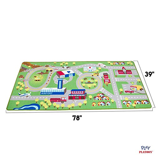 Kids Play Car Rug - Community Carpet Mat Large, 78'' x 39'' by Play Platoon (Image #4)