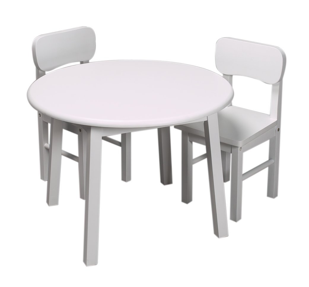 Awe Inspiring Gift Mark Round Children Table White Caraccident5 Cool Chair Designs And Ideas Caraccident5Info