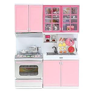 Mohoo Kinder Rosa Küchengeräte spielzeug küche Pretend Play Garraum Herd Spielzeug Set Kombi