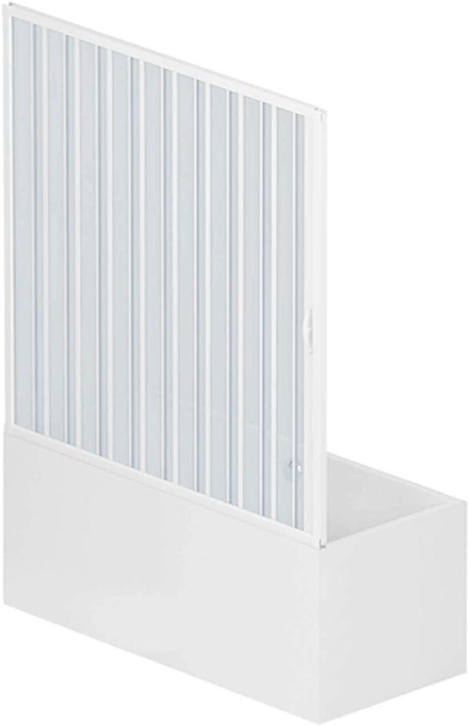 RL Puerta Mampara de bañera 150 CM de PVC Mod. Nina con Apertura Lateral: Amazon.es: Bricolaje y herramientas