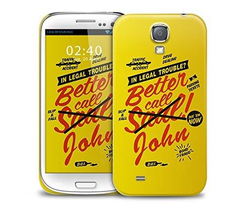 Better Call SU NOMBRE (no Saul - díganos su nombre y le custome imprimirlo en la caja del teléfono) Samsung Galaxy S4 GS4 plastic protective phone case cover
