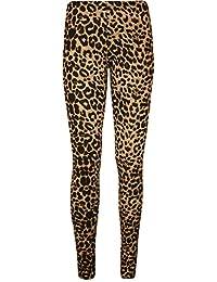 WearAll Womens Plus Size Print Elastic Waist Pants Full Long Leggings