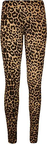 WearAll - Grande Taille Imprimer Pantalon taille élastique femmes pleine longue Jambières - Imprimé Léopard - 52-54