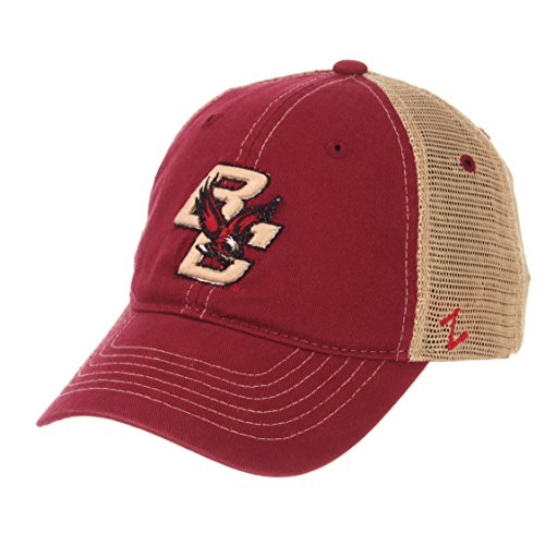 (Zephyr NCAA Boston College Eagles Men's Institution Relaxed Cap, Adjustable, Cardinal)