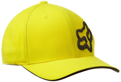 Urban Mens Hat (Fox Men's Signature Flexfit Hat, Yellow, Small/Medium)