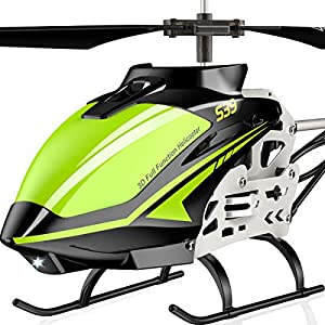 SYMA-RC-Helicopter-S39-Aircraft-with-35-ChannelBigger-Size-Sturdy-Alloy-Material-Gyro-Stabilizer-and-High-Low-Speed-Multi-Protection-Drone-for-Kids-and-Beginners-to-Play-Indoor-Green