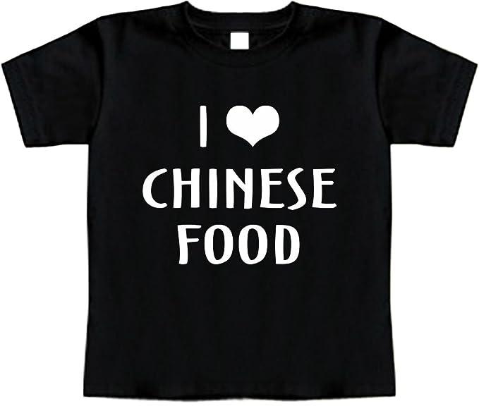 491ceffffdca Amazon.com  Funny Baby T-Shirt (I Love (Heart) Chinese Foods ...