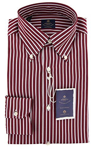 new-luigi-borrelli-red-striped-extra-slim-shirt