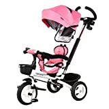 Children Trike Smart Design Kids Child Tricycle Ride-On Bike Folding 1-5 Years Old Bicycle Baby Trolley (Color : Pink)