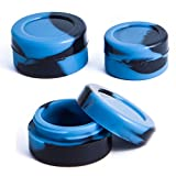 3mL Silicone Concentrate Container Jars - 100% PREMIUM HIGH QUALITY (Blue Marble) (1000 Pcs)