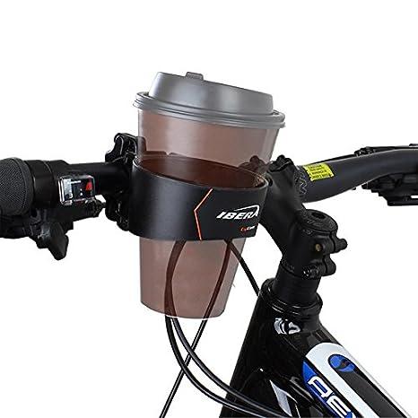 Ibera Bike Handlebar Cup Holder Black With Multi Way