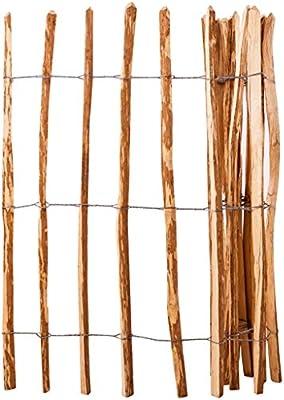 Furnituredeals Malla para cercas Valla de estacas Madera de avellano 120x250 cm cercas para Jardin: Amazon.es: Jardín