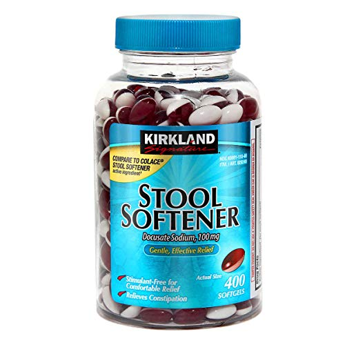 Kirkland Signature Stool Softener 100 mg, 400 Softgels - 2 Pack