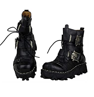 dbebe060d4c Amazon.com | HNZY High-Rise Platform Boots, Martin Boots, The Best  Companion for Hiking (Black, Brown) | Hunting