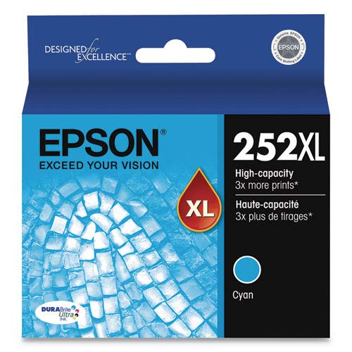 (Epson DURABrite Ultra 252XL Ink Cartridge - Cyan T252XL220)