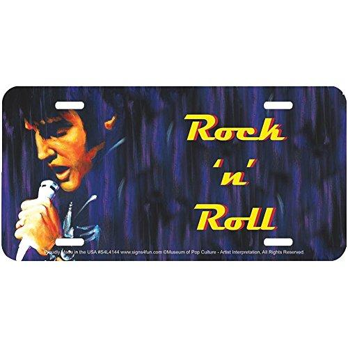 Signs 4 Fun Elvis Presley The King Of Rock 'n' Roll Embossed Vanity License Plate ()
