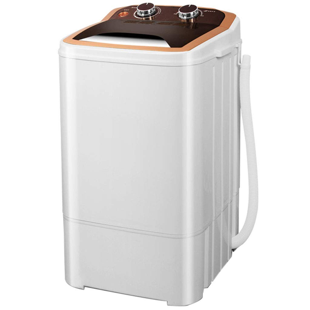 Mini Portable Washing Machine, Small Simple Plastic Washing Machine for Camping, Apartments, or Student Dorm Room 360390650 MM(Gold)
