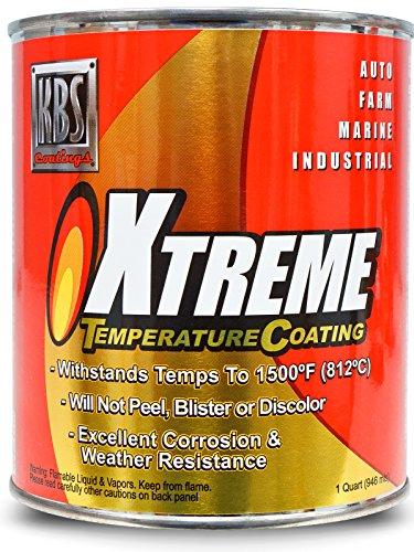 Exhaust Manifold Coating - KBS Coatings 65428 Pure White Xtreme Temperature Coating - 1 Quart