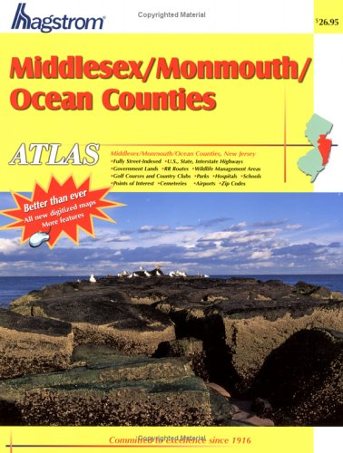 Hagstrom Middlesex/Monmouth/Ocean Counties, NJ. Atlas (Middlesex County, Monmouth County, Ocean County, Nj Atlas)