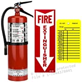 10 Lb. Strike First, Type ABC Dry Chemical Fire Extinguisher with Wall Hook, Sign and Tag