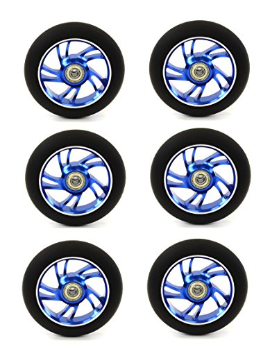 Mayhem Scooter Wheel 5 Double Spokes Abec 9 Bearings (2 Wheels) BLUE