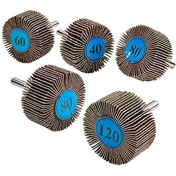 10 Pack 2 x 1 x 1//4 Shank Mounted Aluminum Oxide Flap Wheels 60 Grit