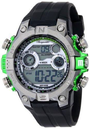 Burgmeister Men's BM800-112D Digital Power Alarm Chronograph Watch