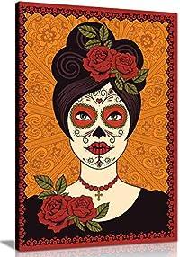 tableau tête de mort mexicaine 1