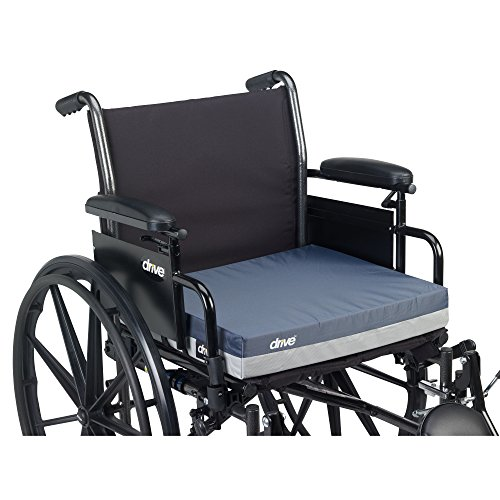 Drive Medical Gel''e'' Skin Protection Wheelchair Seat Cushion, 18 x 18 x 3'', Blue by Drive Medical (Image #3)