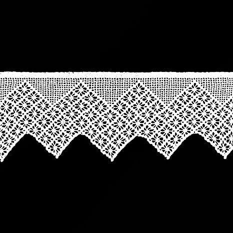 Hossner handgehä kelte a Escala rústico Punta Ganchillo Cinta Ribete Mano Metro 21 cm Altura 100% algodón Blanco: Amazon.es: Juguetes y juegos