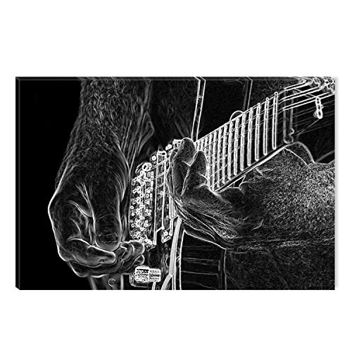 STARTONIGHT Canvas Wall Art Black and White Guitar Music Abs