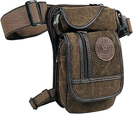 Anjoy Canvas Tactical Military Waist Pack Pouch Outdoor Drop Leg Bag