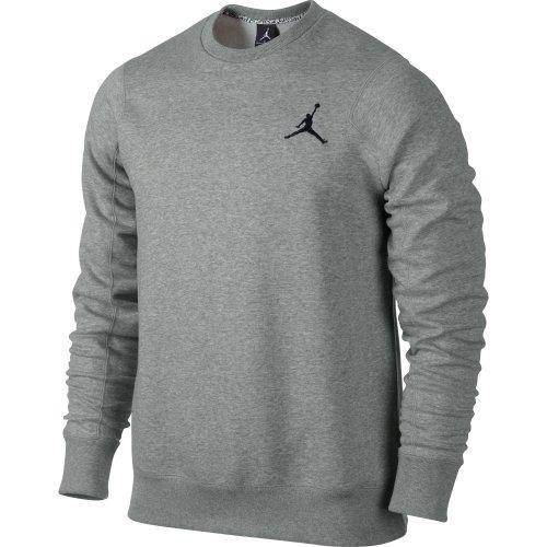 Air Jordan Men's 23/7 Fleece Crew Sweatshirt Grey/Black 547663-063 (Size 3X)
