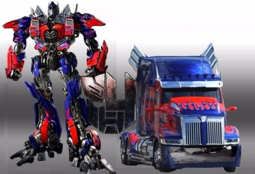 CAKEUSA Transformers OPTIMUS PRIME Optimus Truck Birthday Cake Topper Edible Image 1/4 Sheet Frosting