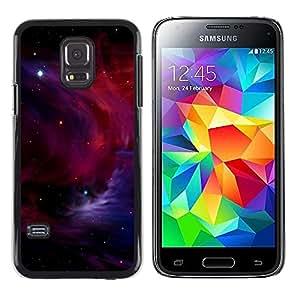 TECHCASE**Cubierta de la caja de protección la piel dura para el ** Samsung Galaxy S5 Mini, SM-G800, NOT S5 REGULAR! ** Red Galaxy Nebula Cluster Space Universe Cosmos